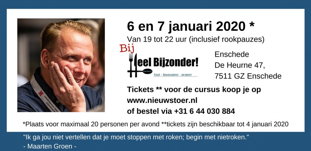 Koop kaartjes voor Begin Met Niet Roken de cursus. 6 en 7 januari 2020